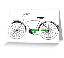 Old Style Bicycle Greeting Card