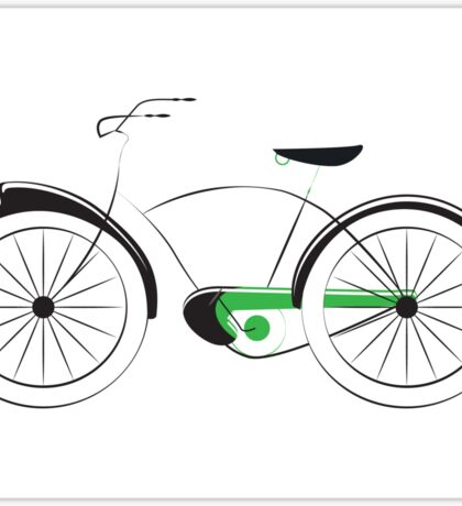 Old Style Bicycle Sticker