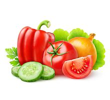 Mixed fresh vegetables Photographic Print