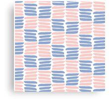 Art brush texture. Trendy colors Canvas Print