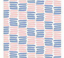 Art brush texture. Trendy colors Photographic Print
