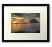 Morro Bay Rock Sunset HDR Framed Print