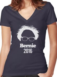 Bernie Sanders For President Women's Fitted V-Neck T-Shirt
