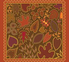 Autumn Leaves Pattern by Kathleen Dupree