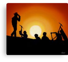 Indiana Jones Sunset Scene Canvas Print