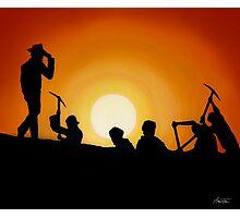 Indiana Jones Sunset Scene Photographic Print