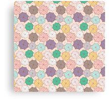 Colorful umbrella pattern. Canvas Print
