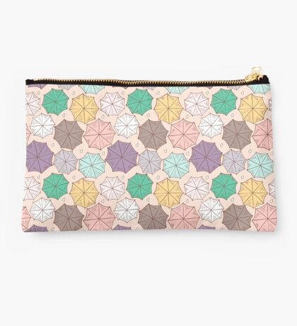 Colorful umbrella pattern. Studio Pouch