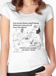 Those small flying dinosaurs Women's Fitted Scoop T-Shirt