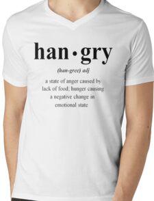 Hangry Mens V-Neck T-Shirt