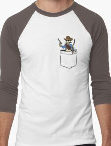 Reach for the sky!.. I mean your pocket. Men's Baseball ¾ T-Shirt