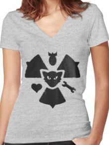 Atom Cats Women's Fitted V-Neck T-Shirt