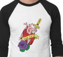 'Mad Love' Classic Tattoo Style Flash Art Men's Baseball ¾ T-Shirt