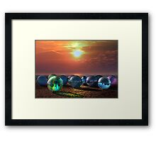 The 12 Marbels Framed Print