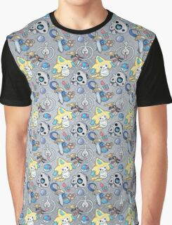 Steel Types - Pokemon - Patterned Metal Graphic T-Shirt