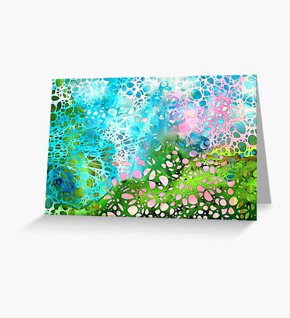 Colorful Art - Enchanting Spring - Sharon Cummings Greeting Card