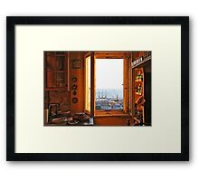 out of the yellow kitchen Framed Print