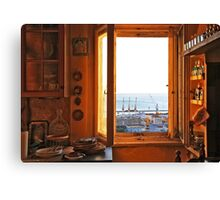 out of the yellow kitchen Canvas Print