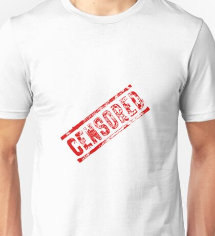 Censored Stamp Unisex T-Shirt