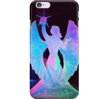 A star is born with this beautiful ice carving under the long darkness of a North Pole, Alaska sky. iPhone Case/Skin