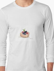 Fruit cake watercolour painting Long Sleeve T-Shirt
