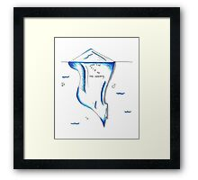 Just The Tip of the Iceberg Doodle Framed Print