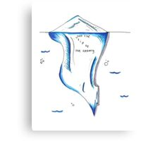 Just The Tip of the Iceberg Doodle Canvas Print