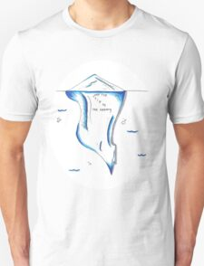 Just The Tip of the Iceberg Doodle Unisex T-Shirt