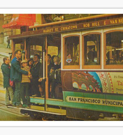 Cable Car - A San Francisco Landmark Sticker