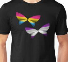 Pan Graysexual Pride Butterflies Unisex T-Shirt