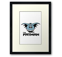 Batman - I'm Fatman Framed Print