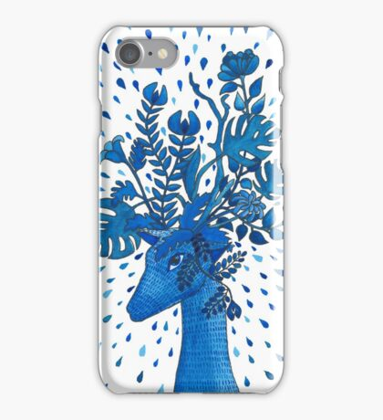 Flowery fawn  iPhone Case/Skin
