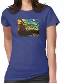 Night Pines Womens Fitted T-Shirt