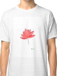 Lotus flowers watercolour painting Classic T-Shirt