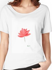 Lotus flowers watercolour painting Women's Relaxed Fit T-Shirt