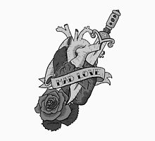 Dark Heart Mad Love, Classic Tattoo Style Design Men's Baseball ¾ T-Shirt