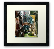 Pictorial Venice - timeless perspective  Framed Print