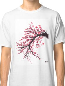 Cherry blossom watercolour painting Classic T-Shirt