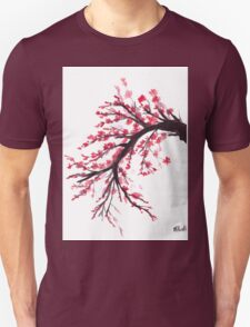 Cherry blossom watercolour painting Unisex T-Shirt