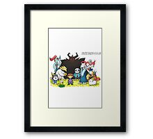 Undertale - Characters Drawing Framed Print
