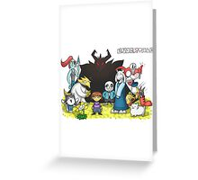 Undertale - Characters Drawing Greeting Card