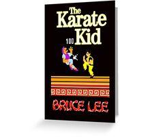 Karate Kid Bruce Lee Kung Fu Greeting Card