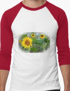 Sunflower Art Men's Baseball ¾ T-Shirt