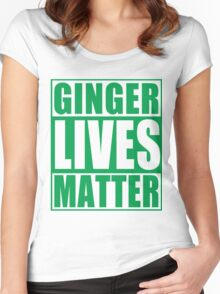 St Patrick's Day Ginger Lives Matter Women's Fitted Scoop T-Shirt