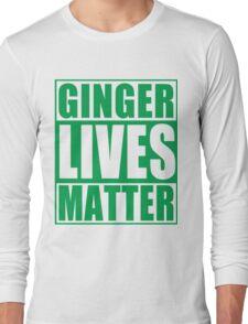 St Patrick's Day Ginger Lives Matter Long Sleeve T-Shirt