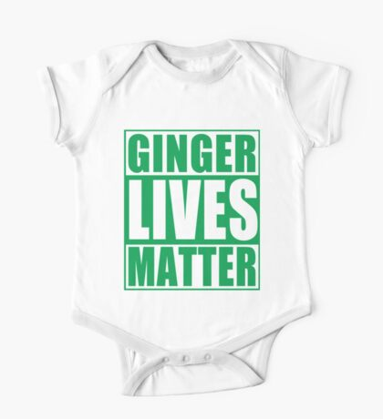 St Patrick's Day Ginger Lives Matter One Piece - Short Sleeve