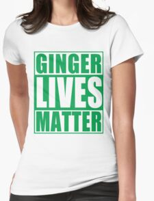 St Patrick's Day Ginger Lives Matter Womens Fitted T-Shirt