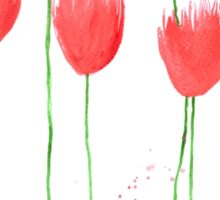 Tulips flowers watercolor painting Sticker