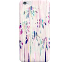 Girly Pink Teal Watercolor Dripping Palm Trees iPhone Case/Skin