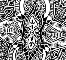 Swirling Zentangle Mandala design Sticker